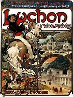 ART PRINT POSTER VINTAGE TRAVEL ADVERT LUCHON MUCHA NOUVEAU RAIL TRAINS NOFL1513