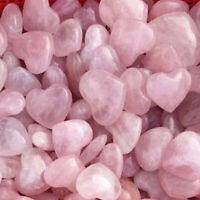 1kg/2.2LB Natural Rose Pink Quartz Heart Palm Stone Reiki Healing Bulk Wholesale