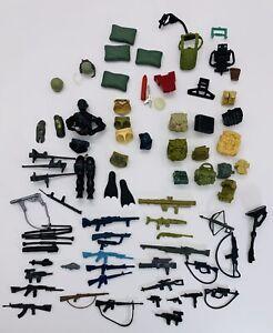 Vintage Original 1980s Gi Joe Cobra Figure Parts weapons accessories lot Of 75+