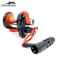 CAMEKOON All Metal Saltwater Lever Drag Fishing Reel 77LB Max Drag Trolling Reel