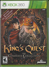 Kings Quest Complete Collection Xbox 360 Brand New Factory Sealed all 5 chapters