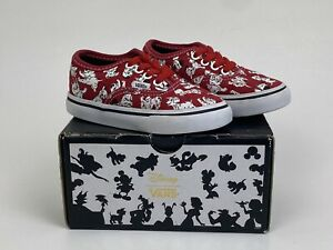 Youth Boys Girls Unisex Size 6T Disney 101 Dalmations Vans Shoes Sneakers w/Box