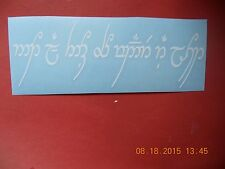"Lord of the Rings ""Not All Who Wander Are Lost"" elvish language vinyl decal"