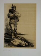 """Lithographie de STEINLEN, """"Sous la botte"""" numérotée 45/400"""