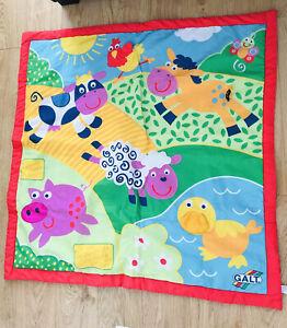 Galt Toys Large Playmat, Farm. Baby Sensory Features. 100cm x 100cm