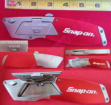 New Snap On Auto-Loading Utility Knife UTK150 Includes 5 Bi-Metal Blades Cutter