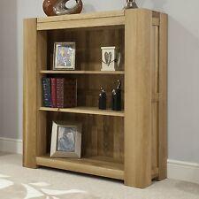Pemberton solid oak furniture small living room office bookcase