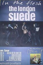 "LONDON SUEDE ""IN THE FLESH - ON TOUR"" U.S. PROMO POSTER WITH TOUR DATES"