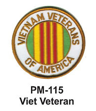 """3"""" VIET VETERAN Embroidered Military Patch"""