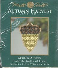 Harvest Acron Counted Cross Stitch Glass Bead Kit by Mill Hill