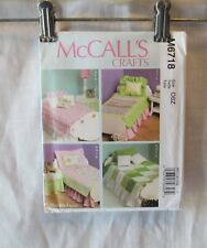 "MCCALL 18"" DOLL PATTERN BED MATTRESS BEDDING NIGHT STAND TABLE SKIRT  #6718"