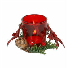 Christmas Glass Tea Light Candle Holders & Accessories