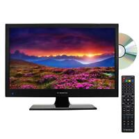 "15.6"" INCH HD LED TV 12V VOLT PORTABLE CAR CORD KIT DC/AC TV DVD PLAYER COMBO"