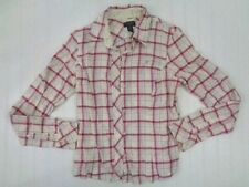 AMERICAN EAGLE OUTFITTERS Womens Flannel Shirt Size 10 Long Sleeve misc23