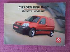 CITROEN BERLINGO VAN HANDBOOK - OWNERS MANUAL INCLUDES 1.6 HDi  (CI 522)