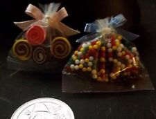 Doll House Miniature Bubble gum and Chocolate swirl candy
