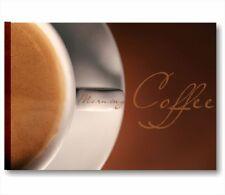 Quadro bar Caffè 2 QUADRO SU TELA 70x50 cm STAMPA CUCINA COLAZIONE CAFFE PUB