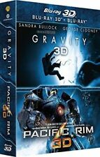 """Gravity 3D, Pacific Rim 3D""       Blu-Ray 3D -NEUF SOUS BLISTER"