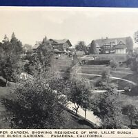 Pasadena CA Residence Of Mrs Lillie Busch View From The Gardens Postcard