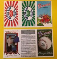 1979-1980 Atlanta BRAVES UNUSED Vintage Baseball LOT set 2 Pocket schedules card