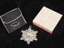 Gorham 1971 Christmas Ornament Sterling Silver Snowflake with Box
