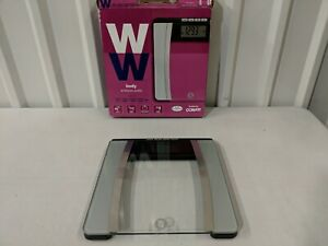 Returned WW Scales by Conair Body Analysis Glass Bathroom Scale Good Condition