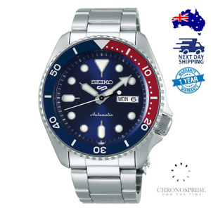 Seiko 5 Pepsi SRPD53 SRPD53K1 Stainless Steel Automatic Mens Watch