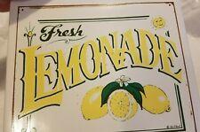 """""""Fresh Lemonade"""" ceramic hanging wall sign"""
