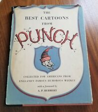 VINTAGE The Best Cartoons from PUNCH*1st ED.*1952 Simon Schuster Hardcover w/DJ