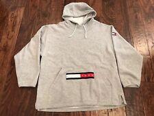 Vintage Tommy Hilfiger Jeans Spell Out Flag Hoodie Sweatshirt Men's L 90's