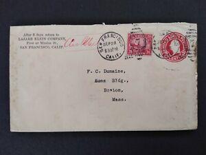 California: San Fran 1926 #C6 on 2c Entire Lazare Klein Airmail Cover to Boston