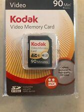 Kodak SDHC 4gb class 4 video memory card 90 minutes NEW