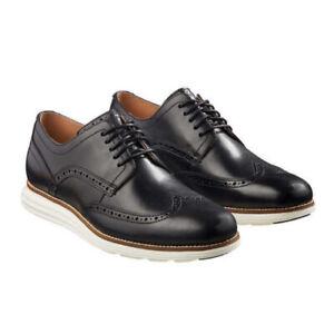 Cole Haan Men's Original Grand Shortwing Oxford Shoes (Black/White, Size 9)