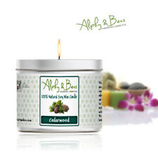 Alphy&Becs Candles Cedarwood 200gr Eco Soy HandMade In UK