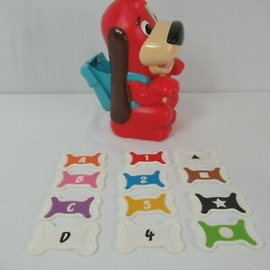 Mattel Red Rover Talking Dog Bones Complete Learning Letters Numbers Home School