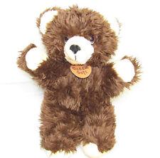 VTG 1985 WELL-MADE HAPPINESS AID STUFFED SHAGGY BROWN TEDDY BEAR PLUSH