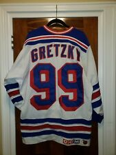 93f5c30f8 Vintage Wayne Gretzky New York Rangers Jersey By Gerry Cosby Size 42