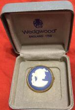 Wegdewood Blue Jasper Pin Made in England, Original Box