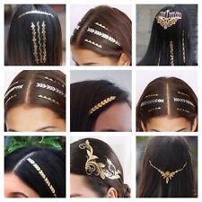 Hairtattoo Accessorio Per Capelli Oro Rossi Tatuaggio Acconciatura Styling