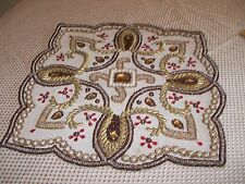 """BEADED PLACEMAT - Kim Seybert Brand, 14"""" Square, Very GENTLY USED"""