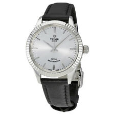 Tudor Style Silver Dial Automatic Ladies Watch 12310-SVLS