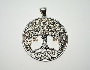 Lebensbaum Anhänger 925-er Silber 4,2 cm Ø