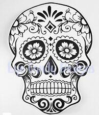 vinyl decal sticker sugar skull day of the dead wall car van tattoo 9 x 13 inch