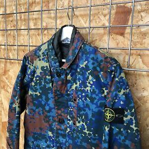 £795 Stone Island Raso Gommato Camo Print OVD jacket M MEDIUM Marina Shadow