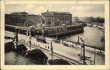 Berlin 1912 Friedrichs Brücke National Galerie Straßenbahn Fluß Spree gelaufen