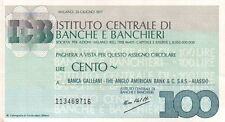 MINI ASSEGNO - 1977 - BANCA GALLEANI THE ANGLO AMERICAN BANK - ALASSIO - C8-206