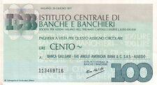 MINI ASSEGNO - 1977 - BANCA GALLEANI THE ANGLO AMERICAN BANK - ALASSIO - C8-206