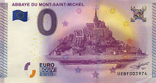 50 MONT SAINT MICHEL BILLET 2015 ZERO 0€ EURO NO JETON COINS MEDALS BANKNOTE