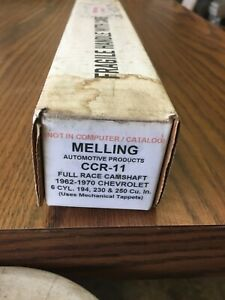 Melling CCS11 Race Camshaft Chevrolet 1962-76 194,230,250, 6 cyl Car and Truck