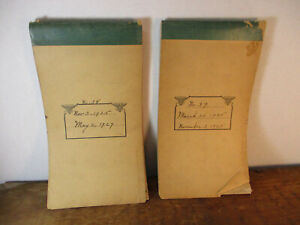 Two Used Shorthand Notebooks 1925 - 1927